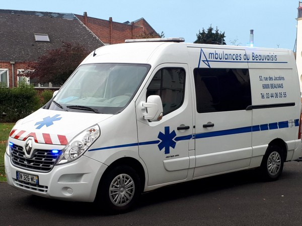 Ambulance disponible pour transport sanitaire et médical dans l'Oise (60)